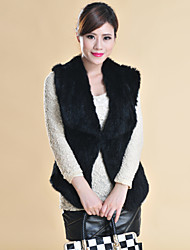 Fur Vests Sleeveless Shawl Rabbit Fur Special Occasion/Casual Vest(More Colors)