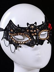 aumentou de forma vermelho chiropter padrão máscara do partido rendas