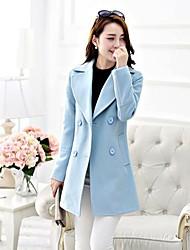 fino casaco de tweed trincheira das mulheres (mais cores)