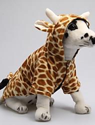 Lustiges 3D-Giraffen-Muster Hoody Anzug für Hunde (XS-XL)
