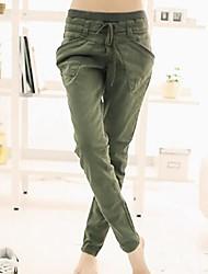 Women's Casual Harem Pants , Cotton Micro-elastic
