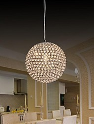 Ball Shape 1 Light Modern K9 Crystal Pendant Light