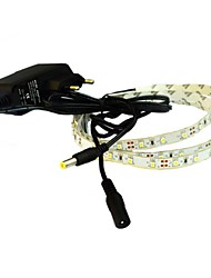 JIAWEN® 1M 4W 60x3528SMD 6000-6500K White LED Flexible Strip Light + 1A Power (AC 110-240V)