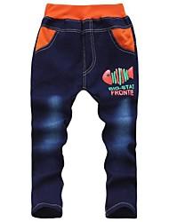 la mode toutes les lettres de correspondance de jeans d'impression de poisson pour les enfants