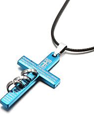 Ожерелье Ожерелья с подвесками Бижутерия Для вечеринок Спорт Крестообразной формы Сплав Кожа Серебрянное покрытие Подарок Черный