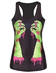 Bleeding Green Hands Tank Top Dress Night Club Sexy Uniform