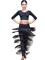 Latin Dance Dancewear  Viscose with Tassels Belly Dance/Latin Dance Bottom
