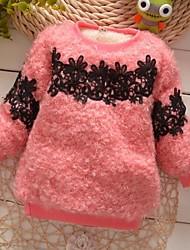 Girl's Fashion Sweet Joker Lace Fur Thickening Warm Sweater