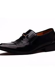 Zapatos de Hombre Boda/Oficina y Trabajo/Fiesta y Noche Cuero Oxfords Negro