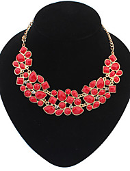 Dream Women's Fashion Temperament Elegance  European Style Vintage Gem Statement Metal Necklaces