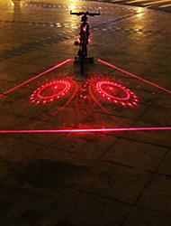 UNGROL 3 Red Straight Lines+2 Turbo Design 1 Laser Module 6 LED 6 Flash Mode Black Bike Warning Laser Light