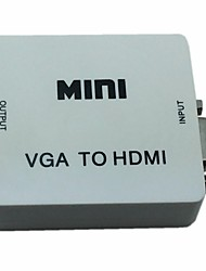 Mini Audio VGA to HDMI 1080P Converter Box Adapter with Audio USB Power for PC D