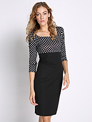 Para Women's Waisted Dots Dress