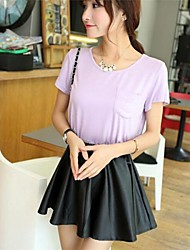 Women's Black Skirts , Casual Mini