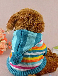Stripe Hooded Coat for Dogs(Assorted Color Assorted Sizes)