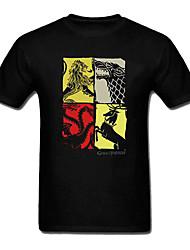 jogo dos tronos t-shirt de algodão preto cosplay família gad