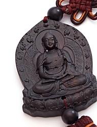 Duo Ji Mi ® Big Buddha Ebony Chinese Knot Car Pendant Hanging Decorations