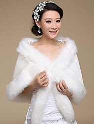 Fur Wraps Faux Fur Bridal Wedding Shawls