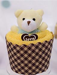 Christmas Gift Cupcake Shape Towel (100% Cotton,30*30cm)