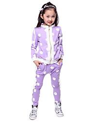 Joker de mode fleur costume imprimé des filles (y compris chemise, pantalon)