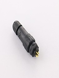 IP68 Shielded 9-pin M14 Waterproof Connector, Industrial Panel Mount Electrical, Cable Diameter: 2.5-7.5mm
