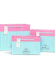 rayas azules bolsas de regalo de patrón