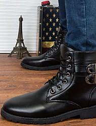 Chaussures Hommes Décontracté Noir / Marron PVC Bottes