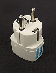 White Plastic AU US UK to EU Euro Travel Adapter Plug AC Power Converter 2 Pins