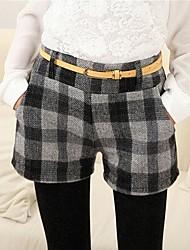Women's Red/Green/Gray Shorts Pants , Casual