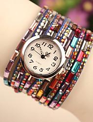 wutongshu colorido fivela relógio pedra preciosa ornamental das mulheres
