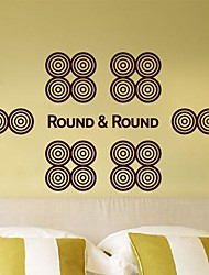 Wall Stickers Wall Decals,  Modern Geometric circle free combination PVC Wall Stickers