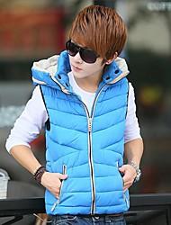 Men's  Fashion New Sleeveless Coat Leisure  Keep Warm Sleeveless Vests