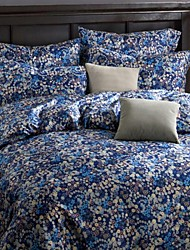 FADFAY@Western Style Blue Floral Bedding Set Modern Staple Cotton Duvet Cover Set Designer Bedding Sets Queen