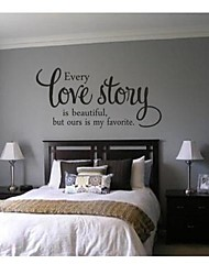 JiuBai® Love Story Quote Wall Sticker Wall Decal, 43Cm*90Cm