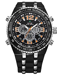 V6 ORKINA  Sport Men Orange Display Alarm Battery Analog Digital Watch Army Bracelet