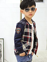 Boy's Cotton Jacket & Coat,Winter / Fall Check