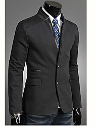 INMUR Men's Collar Stitching Stick A Skin Suit