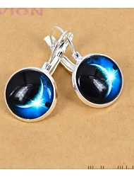 Women's European French Style Galaxy Silver Stud Earring(1 Pair)