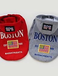 ropa bandera EE.UU. con capucha para perros mascotas (tamaños, colores)