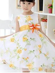 encantadores 3 camadas de casamento festa de aniversário floral concurso de dama de honra vestidos de princesa da menina