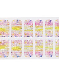 3D profissionais Unhas Salão Completa Capa Harajuku Glitter Stickers por longas unhas Dica Falso