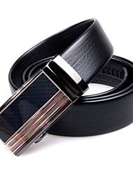 clásico cinturón de cuero hebilla automática hombres omgoma®