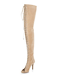 Women's Shoes Peep Toe Stiletto Heel Over The Knee Boots
