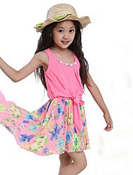 Girl's Chiffon Floral Sundress Party Birthday Casual Children Clothes Dresses
