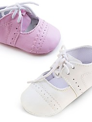 Girls' Shoes First Walkers Crib Shoes Flat Heel Flats with  Lace-up Accent More Colors available