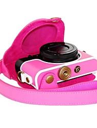 dengpin® retro macchina fotografica di cuoio dell'unità di elaborazione del tessuto copertura del sacchetto della cassa del litchi con tracolla per
