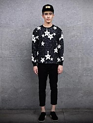 JoanneKitten® Men's Stars Print Long Sleeve T-Shirt