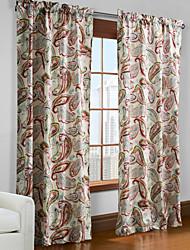 Um Painel Tratamento janela Designer , Folha Sala de Estar Poliéster Material Cortinas cortinas Decoração para casa For Janela
