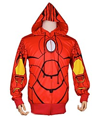 Super Hero Iron Man Red Terylene & Cotton Halloween Cosplay Costume