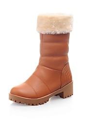 damesschoenen ronde neus dikke hiel halverwege de kuit laarzen meer kleuren beschikbaar